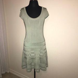 NANETTE LEPORE Light green short sleeve dress SZ.S